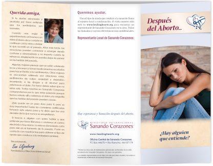 Después del Aborto brochure (outside)